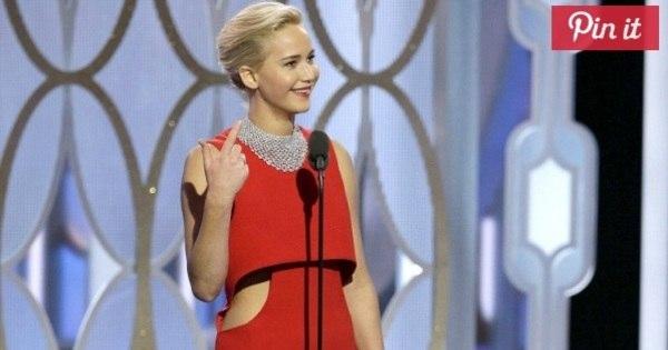 Jennifer Lawrence diz que escolheu vestido para o Globo de Ouro ...