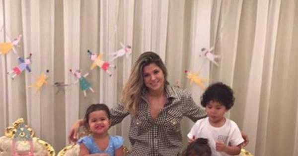 Gêmeas de Dani Souza e Dentinho completam dois anos e ganham ...