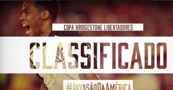 Corinthians comemora vaga nas oitavas da Libertadores sem entrar ...