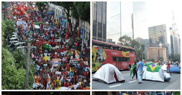 Protestos tomam as ruas de todo o País - Fotos - R7 Brasil