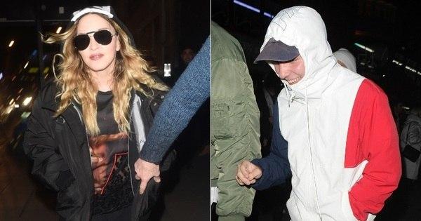 Madonna leva o filho ao teatro após fotos do garoto bebendo e ...