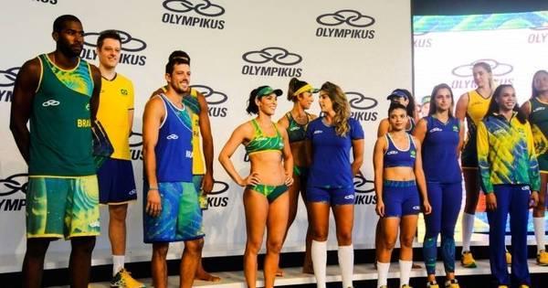 Não agradou! Apresentados, uniformes do vôlei para as Olimpíadas ...