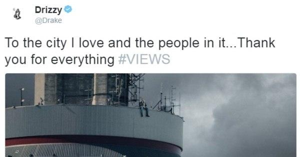 Em capa de novo CD, Drake senta no topo de torre com 147 ...