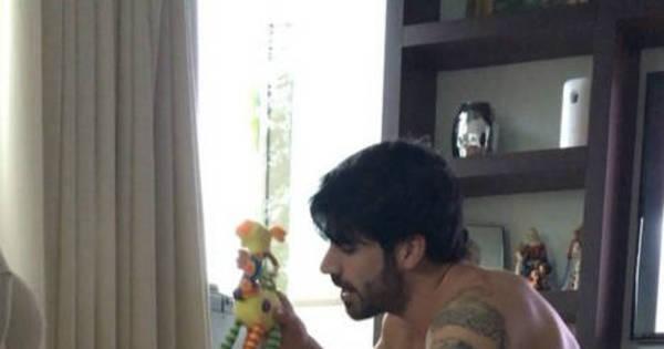 Adriana Sant'Anna mostra vídeo de Rodrigão brincando com o filho ...
