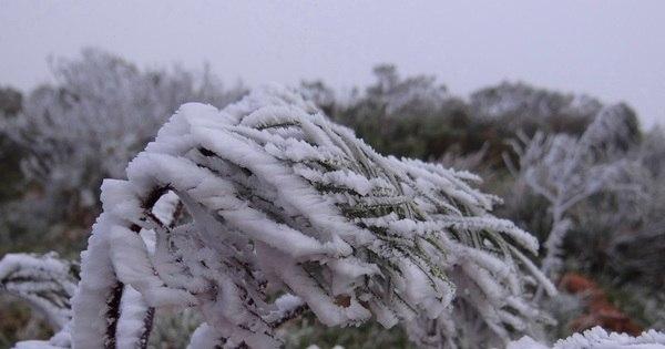 Cidade de SC registra primeira neve do ano no País e ruas ficam ...