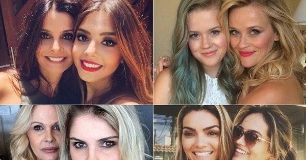 Parecem irmãs! Veja mães e filhas famosas muito parecidas ...