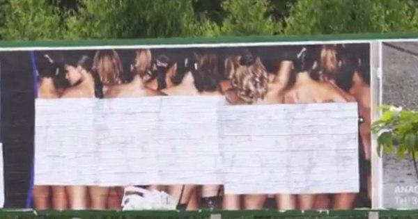 Outdoors de shows sensuais são retirados após polêmica no ...