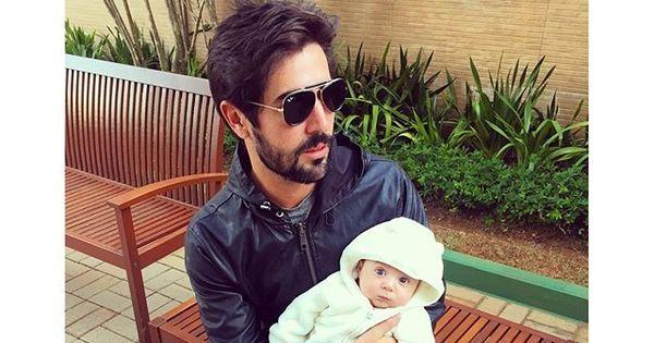Sandro Pedroso curte domingo com o pequeno Noah ...