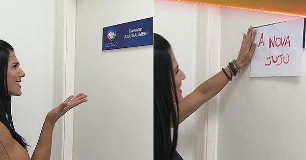 Incomodada, Eva Andressa troca placa do camarim de Juju Salimeni