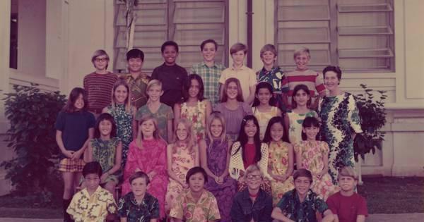 Obama publica no Twitter foto de sua turma na escola e ...