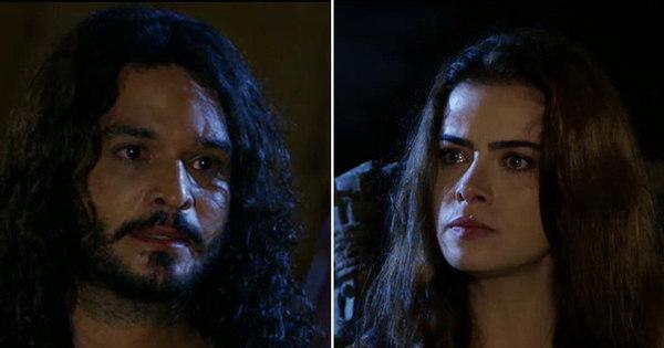 """Na frente de Arão, Abiú coloca Joana contra a parede: """"Eu sei que ..."""