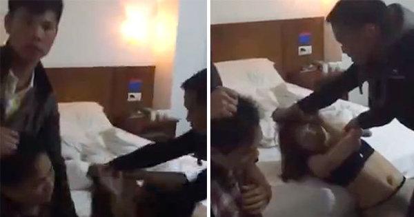Confusão no motel! Marido pega mulher com amante na cama e ...