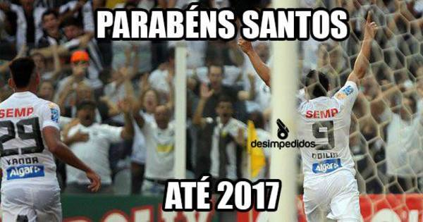 Mesmo campeão, time do Santos não escapa dos memes da web ...