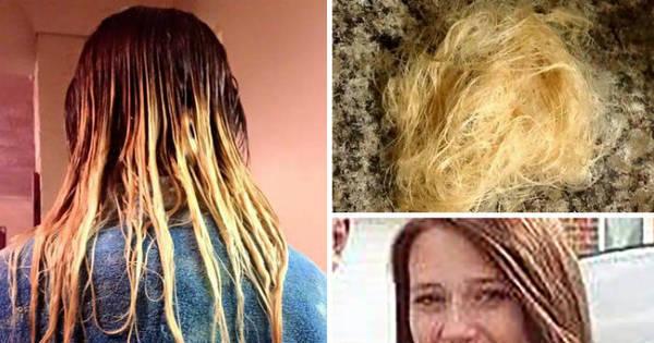 Adolescente pinta o cabelo em casa e o resultado é pior do que ela ...