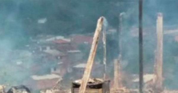 Três crianças escapam ilesas após casa pegar fogo no interior da ...