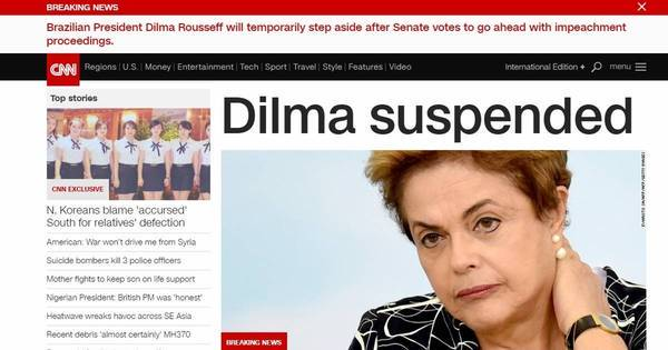 Afastamento de Dilma no Senado repercute na imprensa internacional