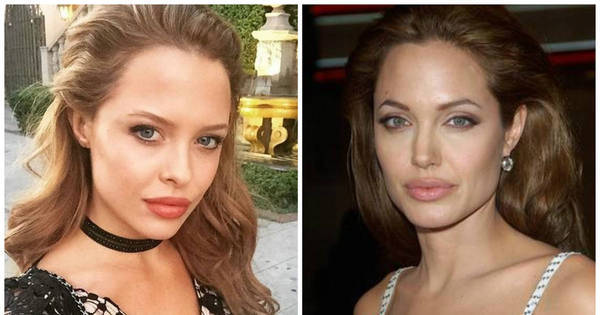 Separadas no nascimento: modelo idêntica a Angelina Jolie faz ...