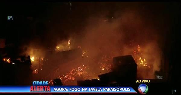 Incêndio atinge favela de Paraisópolis, na zona Sul de São Paulo ...