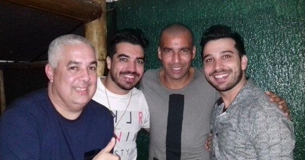 Emerson Sheik comparece a show da dupla Flavio e Ney, em Itaguaí