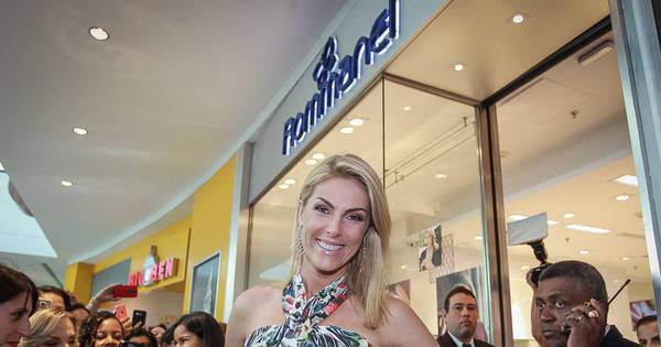 Presença de Ana Hickmann causa tumulto em shopping no Recife