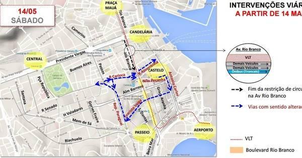Rio tem primeiro dia útil após novas alterações no trânsito do centro ...