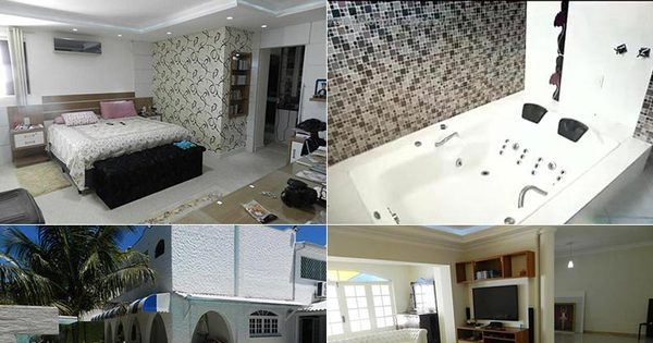 Entre nos cômodos da luxuosa casa de Dedé Santana que está à ...