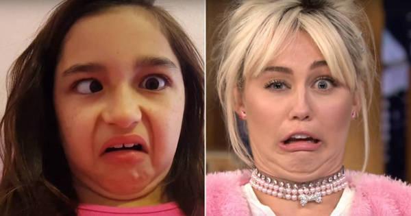Miley Cyrus faz disputa de caretas em programa de televisão ...