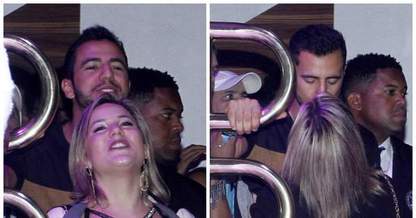 Ex-BBBs Cacau e Matheus beijam muito em show de Mumuzinho ...