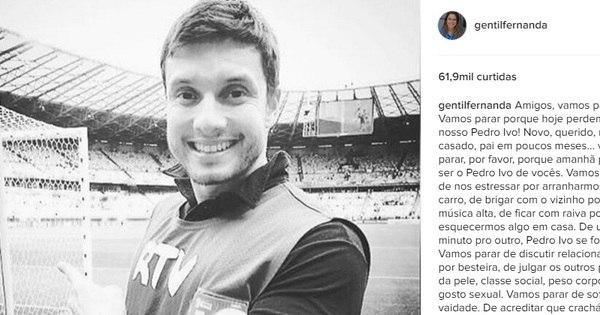 Emocionada, Fernanda Gentil homenageia jornalista morto em ...