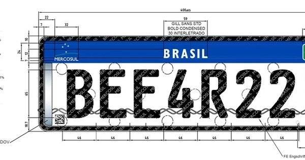 Placas no padrão Mercosul serão obrigatórias nos carros até o ano ...