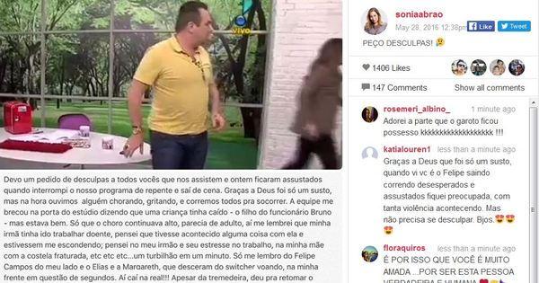 Sônia Abrão pede desculpas por ter saído correndo de programa ao ...