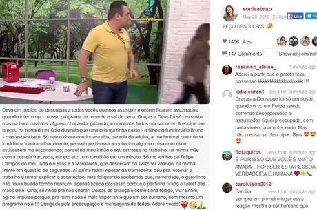 Sônia Abrão se assusta com pegadinha e abandona programa ao vivo