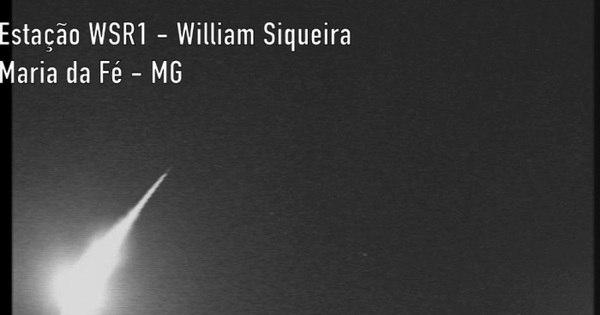 Meteoro é registrado por câmeras em cinco regiões do céu de Minas