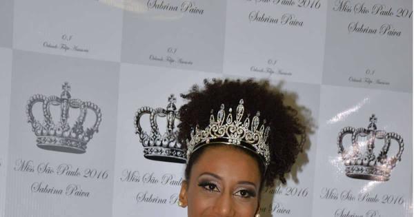 """Sabrina de Paiva, Miss São Paulo, fala sobre vitória: """"Minha bela ..."""