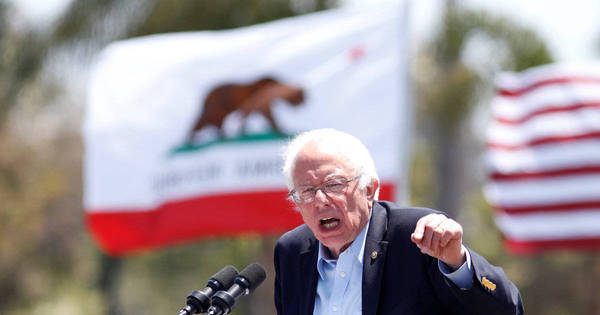 Sanders luta para se tornar candidato à presidência dos EUA, mas ...