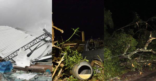 Fortes tempestades deixam rastro de destruição em São Paulo. Veja