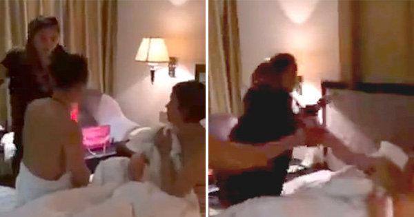 Ataque de fúria! Mulher flagra marido com outra no motel e dá surra ...