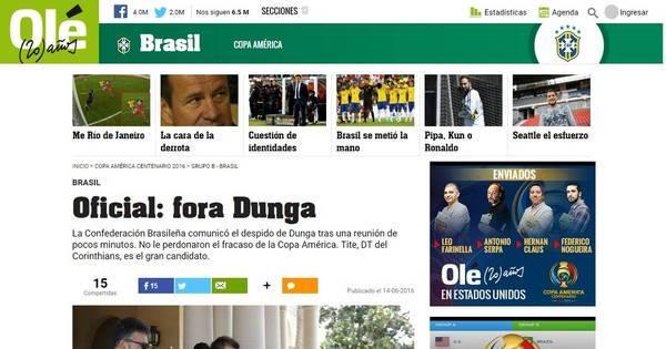 Demissão de Dunga da seleção brasileira repercute na mídia ...