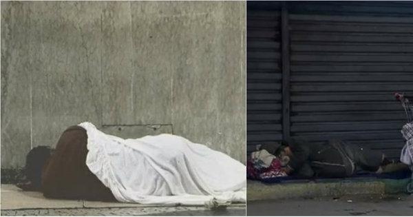 Com frio histórico, 61% dos moradores de rua do Rio não têm vagas ...