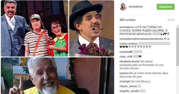 Famosos lamentam morte de Rubén Aguirre, o Professor Girafales ...