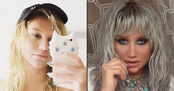 Kesha aparece bem diferente em foto de biquíni e sem maquiagem ...