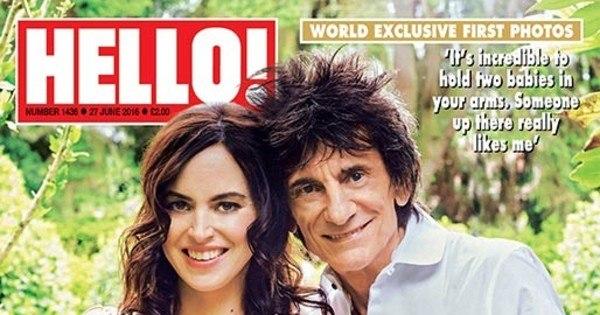 Ronnie Wood, do Rolling Stones, mostra gêmeas pela primeira vez ...
