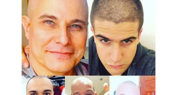 Parentes de Edson Celulari raspam o cabelo em solidariedade ao ator