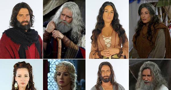 veja o antes e depois dos personagens de Os Dez Mandamentos