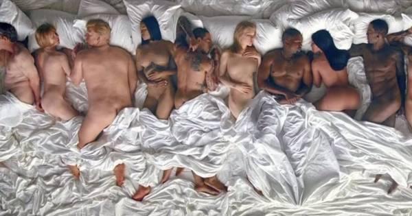 Kanye West causa polêmica com clipe onde aparece deitado com ...
