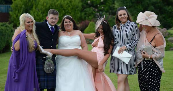 Desinibida, madrinha famosa agarra noivos, causa estrago em ...