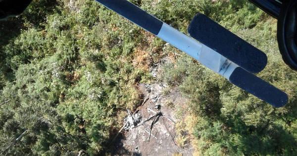 Veja imagens do local do acidente com helicóptero que levava seis ...