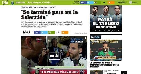 Imprensa argentina destaca possível aposentadoria de Messi da ...