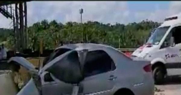 Motorista morre ao bater carro em barreira de proteção de pedágio ...