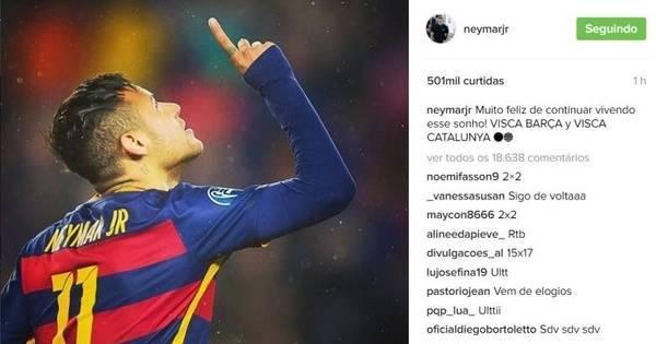 Neymar confirma renovação de contrato com o Barcelona - Esportes ...
